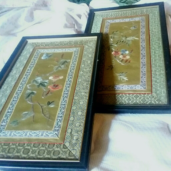 Vintage Other - Vintage Asian Silk Art
